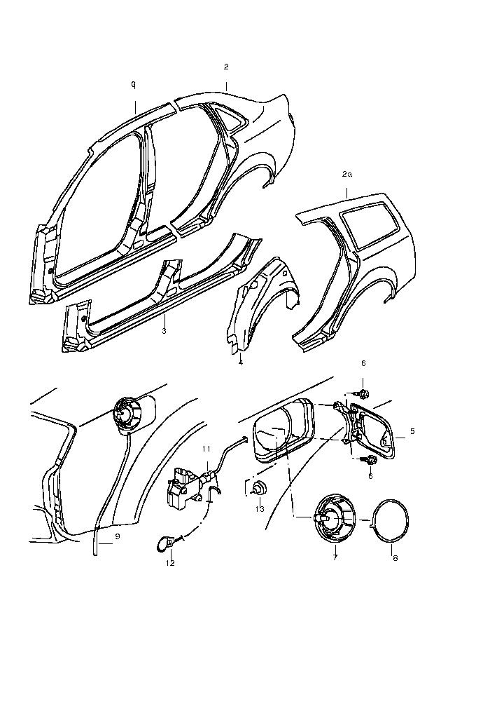 Supapa deschidere capac rezervor Audi A4 caroserie B6 poz.11
