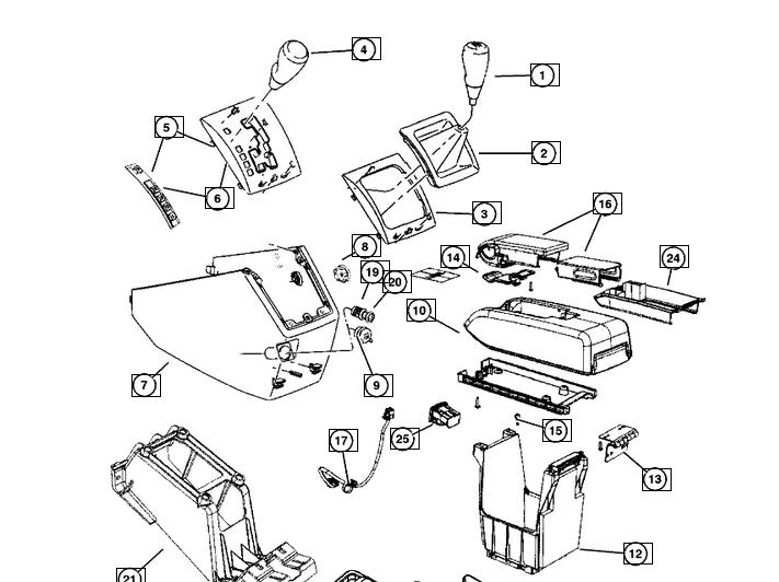 Maciulie schimbator viteze manual Jeep Compass/Patriot