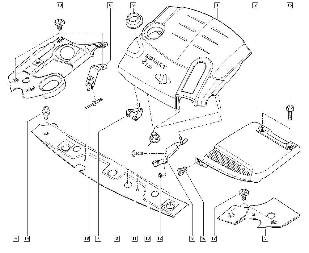 Tampon ( Plot ) Sustinere Protector Acustic Motor Logan 1
