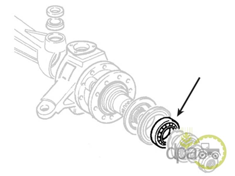 Rulment roata fata Fiat 24903480, 920007131, L154621