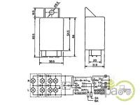 Releu lumini Case IH 1502351C1, 3221178R1, 81259020097
