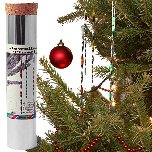Christmas Tree Icicles Tinsel.Jewelled Tinsel Mixed Colours Handmade Tin Icicles Ornaments In Canada