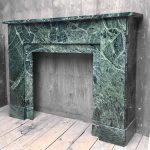 Art Deco Model Fireplace Made Of Old Green Marble Piet Jonker