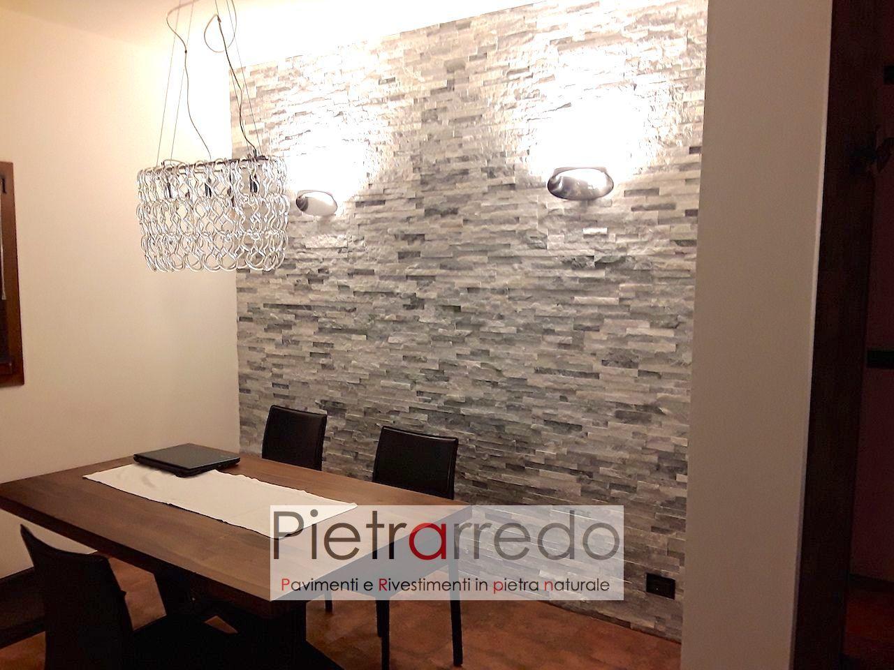 Un design rustico e senza tempo in questo soggiorno con pietre a vista. Rivestimento Pietra Ghiaccio Quarzo In Offerta 45 90 Mq