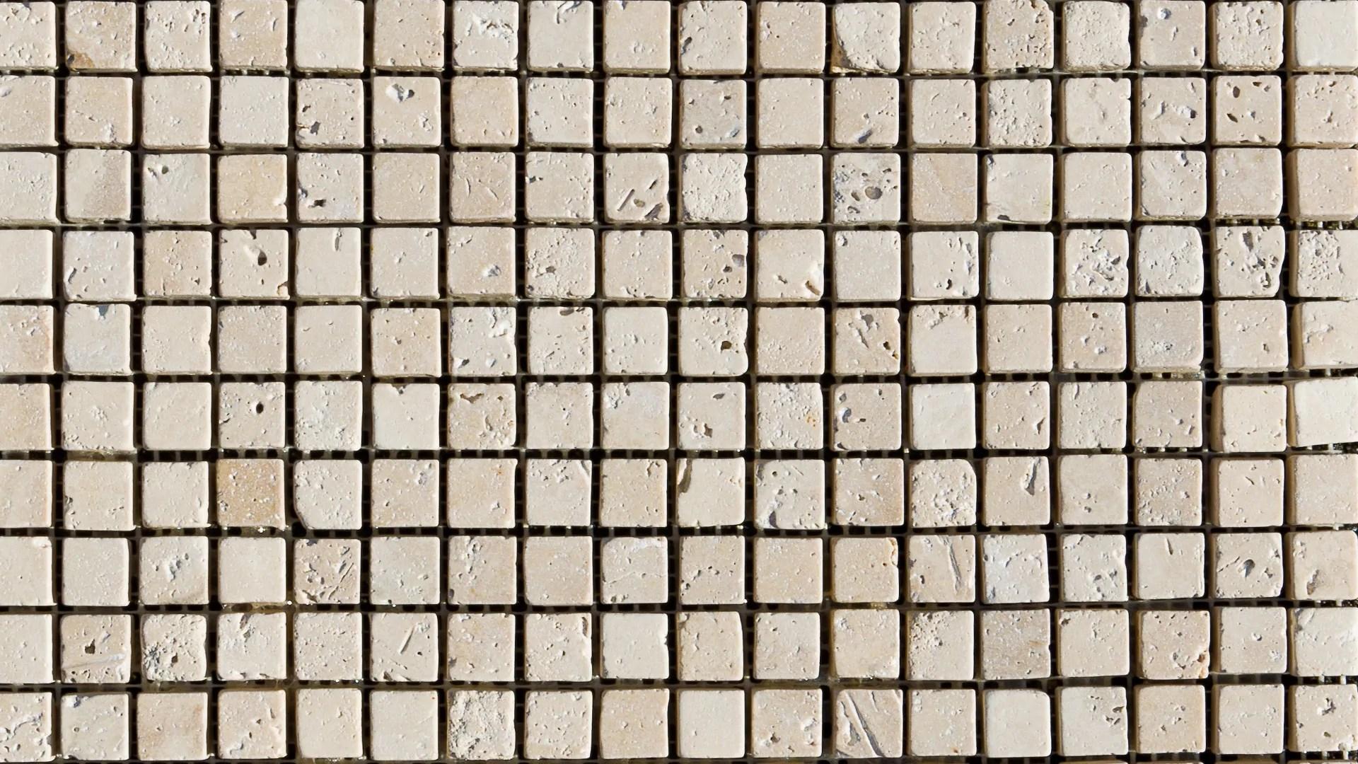 Mosaico in travertino 1515 Light Blend Ciottolo  Pietre di Rapolano
