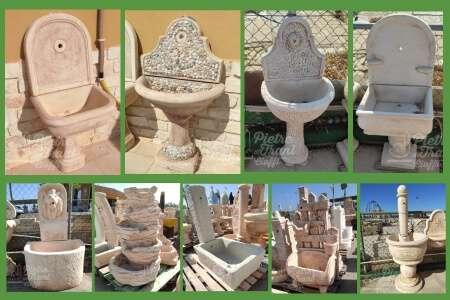 Mak kam fontana da giardino esterno in cemento pietra modello iglesias variante anticato. Fontane Da Giardino In Polvere Di Marmo