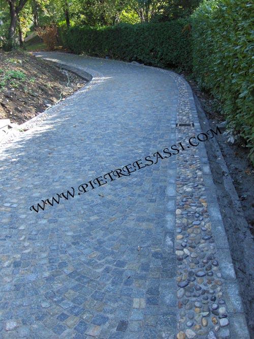 Pavimentazione giardino  PIETREESASSI