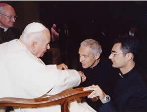 Don Dario e Don Francesco da Giovanni Paolo II