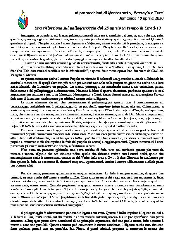 Bollettino 19 aprile 2020