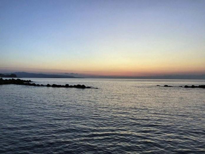 tramonto costa viola favazzina