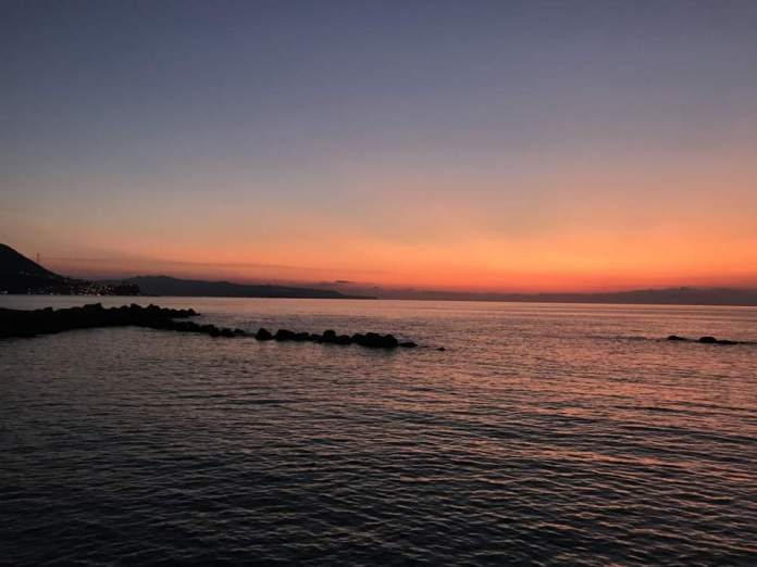 tramonto calabria mare
