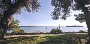 Il parco che circonda la Fondazione Giorgio Cini