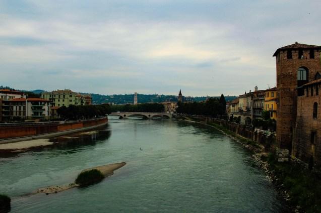 L'Adige dal ponte di Castelvecchio