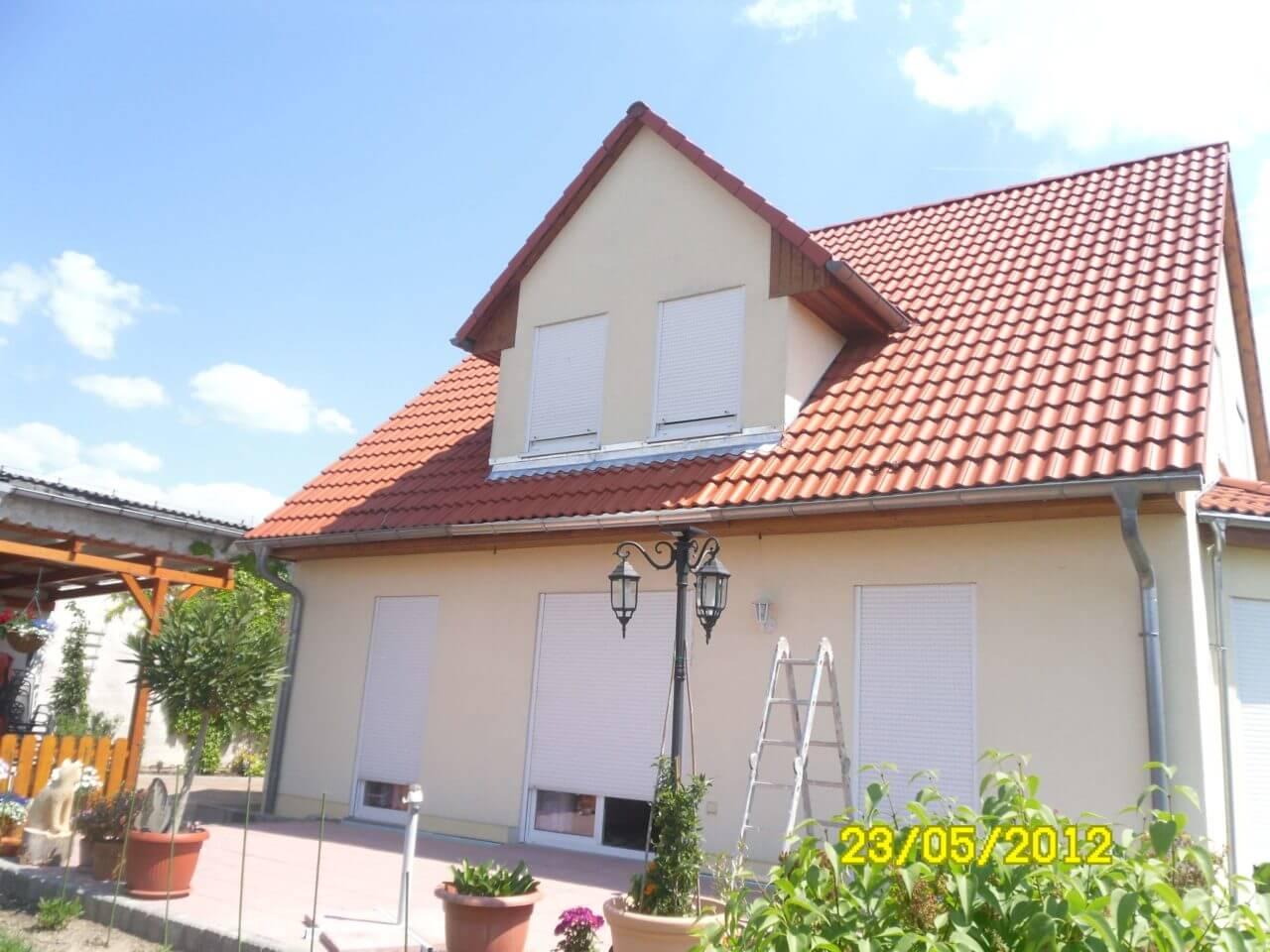 Pergolino - Dachanschluss hergestellt