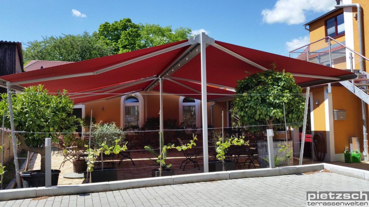 Sonnenschutz, Markise, Allwetter- Markise, Wasserdichte- Markise, Terrassen- Markise, Terrassenüberdachung