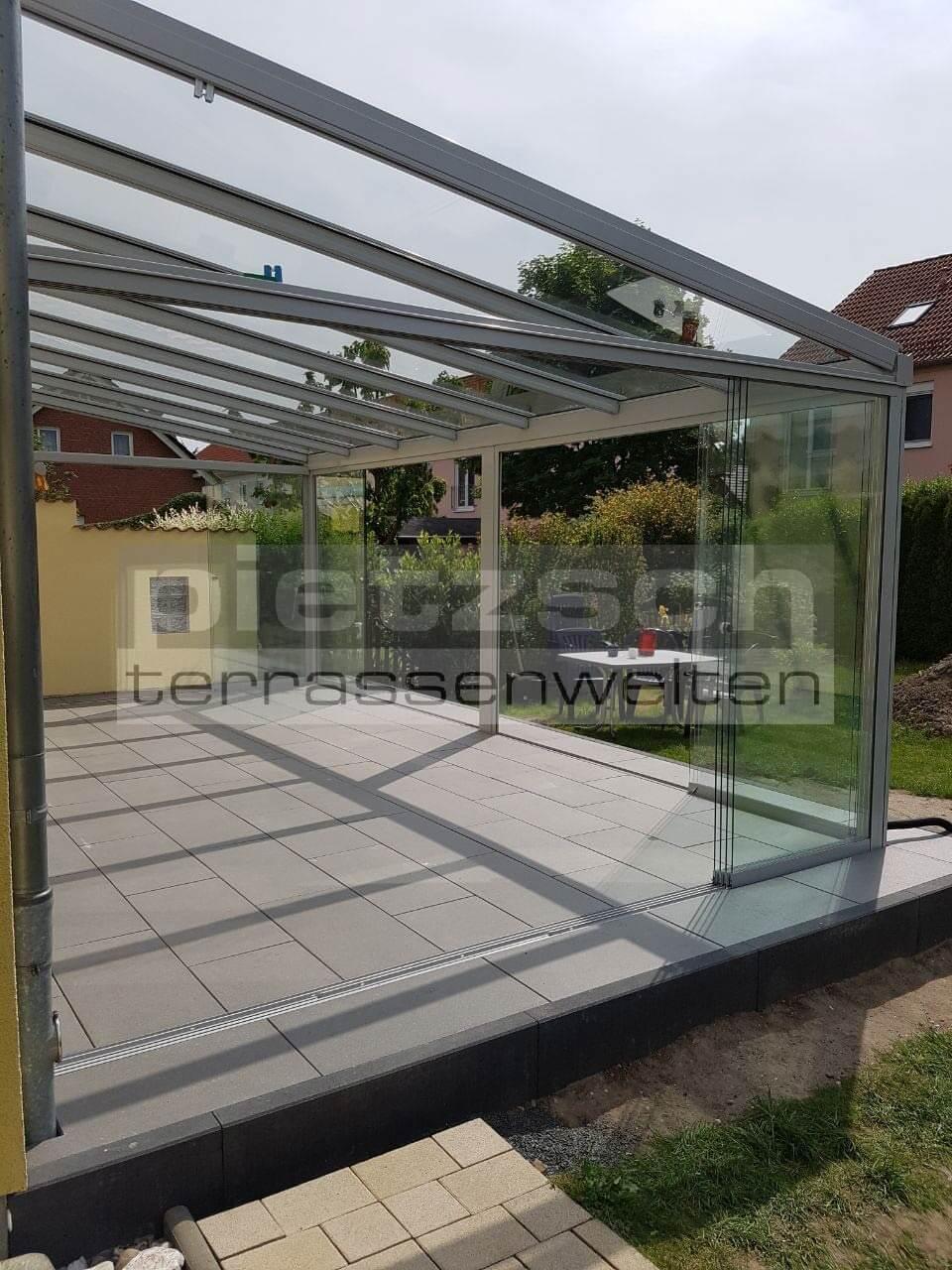 Terrassenüberdachung, TERRADO GP5100, Kaltwintergarten, Sommergarten, Schiebeverglasung, Sunflex SF 20