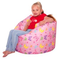 ICON Designer Butterflies Girls Bean Bag  Large Pink Kids