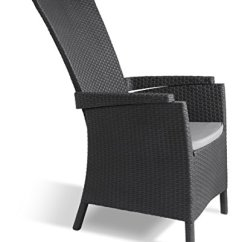 Outdoor Dining Chair Cushions Set Of 4 Rollator Transport Combo Allibert By Keter Vermont Rattan Reclining Garden Furniture – Graphite With Grey ...