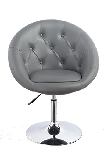 Armchair Grey Club Chair Lounge Chair Faux Leather Dining