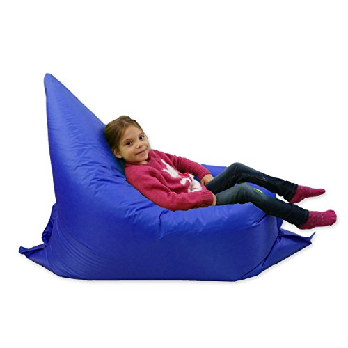childrens bean bag chairs chair covers wedding mn kids beanbag large 6-way garden lounger – giant bags outdoor floor cushion blue ...