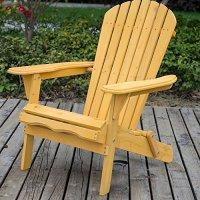 LIFE CARVER Wood Chair Garden Armchair Adirondack Folding ...