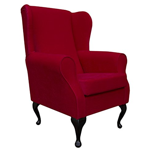 Small Westoe Wingback Armchair in a Rouge Red Pimlico
