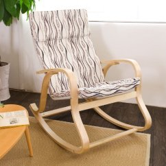Best Outdoor Rocking Chairs 2017 Accent Under 100 00 Sobuy® Comfortable Relax Chair Chair, Lounge With Cotton Fabric Cushion, Fst15-sw