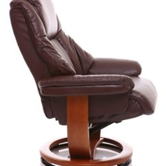 Leather Recliner Chairs With Footstool Shower For The Elderly Emperor – Bonded Swivel Chair & Matching In Nut Brown
