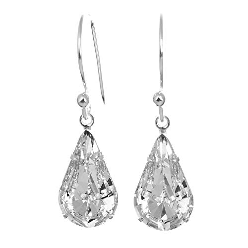 pewterhooter 925 Sterling Silver drop earrings made with
