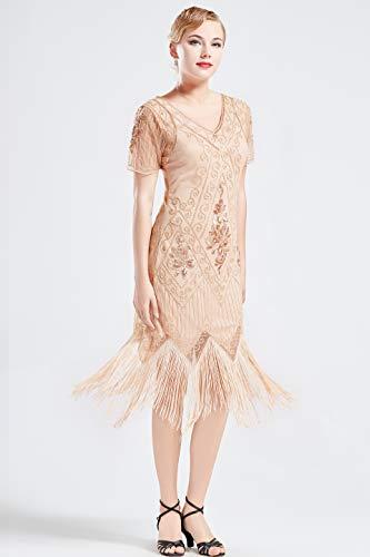 ArtiDeco 1920s Flapper Fringed Sequin Dress Roaring 20s ...