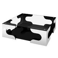 menzzo contemporain diamka xl table basse carree metal verre chrome 120 x 120 x 35 cm