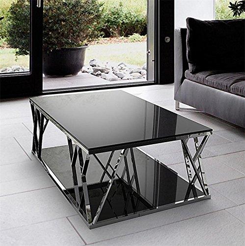 coup de cœur design table basse rectangulaire verre noir design