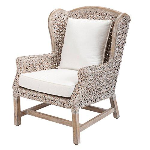 fauteuil en rotin gris tossa fauteuil coconing