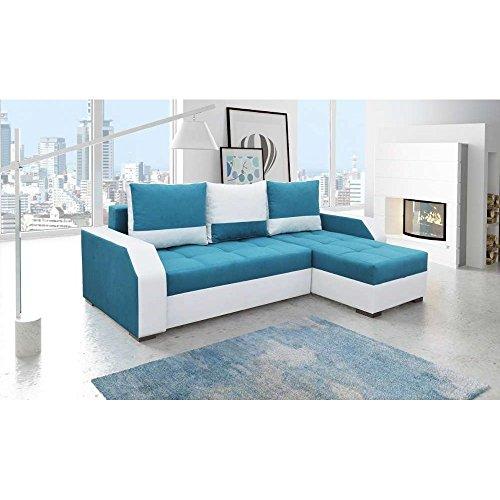justhome aris canape d angle sofa canape lit tissu cuir ecologique hxlxl 90x245x150 cm choix