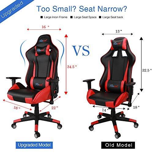 Kinsal Gaming Chair Chaise De Bureau Dossier Haut