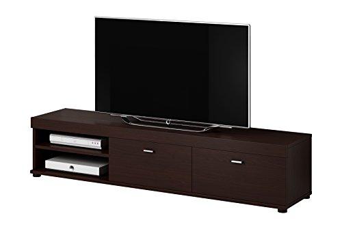 meuble tv armoire chene fonce support elsa en bois wenge 140 cm