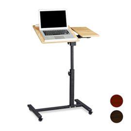 LANGRIA Table Pour Ordinateur Roulettes Pliable Portable