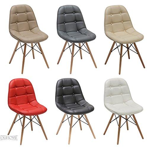 chaise salle a manger lot de 2 en similicuir selection de couleur design retro chaise scandinave avec pieds en bois wy 466