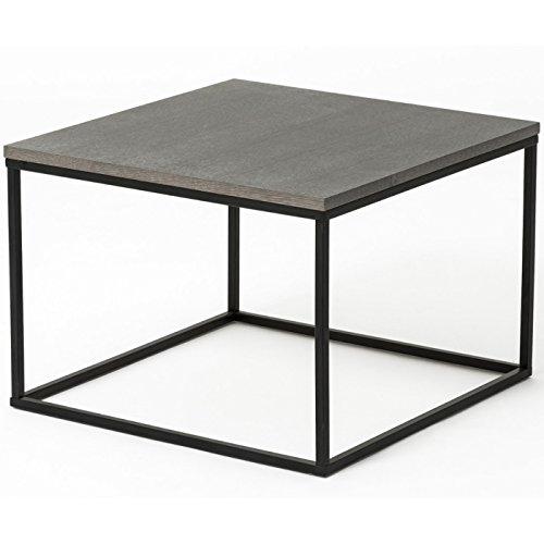 table basse design elesia noir et gris