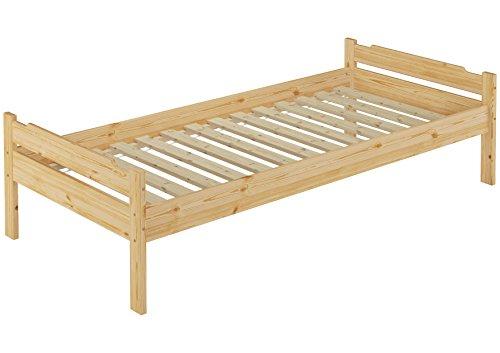 de premier 60 31 08 lit simple en bois avec lattes 80 x 200 bois massif naturel