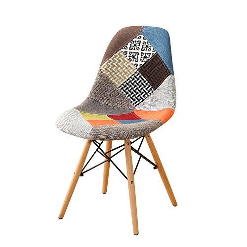 chaise patchwork style scandinave chaise de salle a manger avec pieds en bois chaise nordique