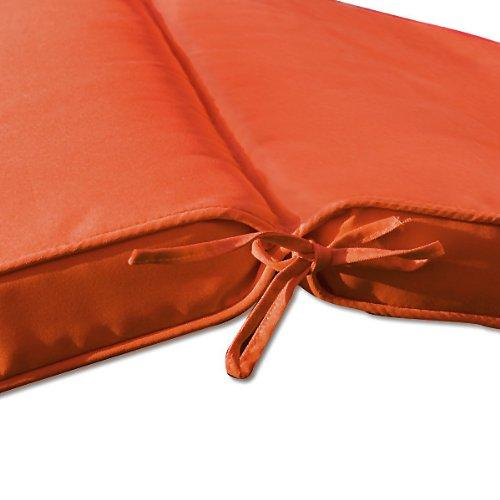 detex coussin pour chaise longue 173 cm matelas transat bain de soleil jardin orange