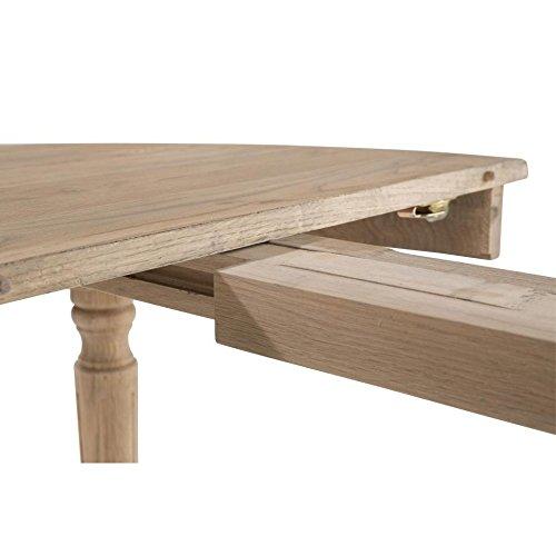 table ronde extensible bois chene clair 120 200cm medicis