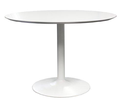 tenzo 3218 001 tequila designer table ronde panneaux mdf acier blanc 110 x 110 x 74 5 cm