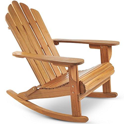 vonhaus fauteuil a bascule adirondack meuble d exterieur jardin en bois d acacia