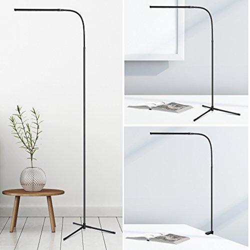 slypnos lampadaire led moderne lampe sur pied avec luminosite reglable lumiere blanche et chaude protection des yeux bras reglable lampadaire de