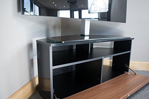 sonorous trd100 meuble tv d angle noir et noyer 100 cm pour tv jusqu a 50
