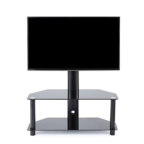 tavr furniture meuble tv avec support bracket pivotant hauteur r glable pour tvs et ecrans lcd led