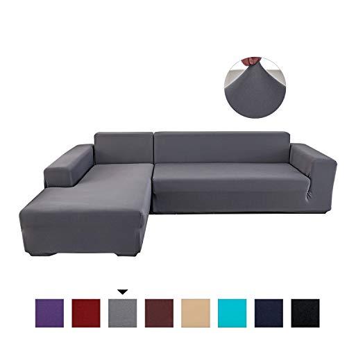 petcute housse de canape d angle extensible couvre canape protecteur elastique housse canape l forme protege fauteuil noir 4 places