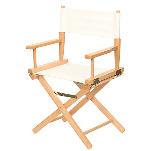 wsnbb director chaise hetre directeur chaise pliante toile epaisse siege for jardin interieur et exterieur couleur bois l53x w40x h85 cm